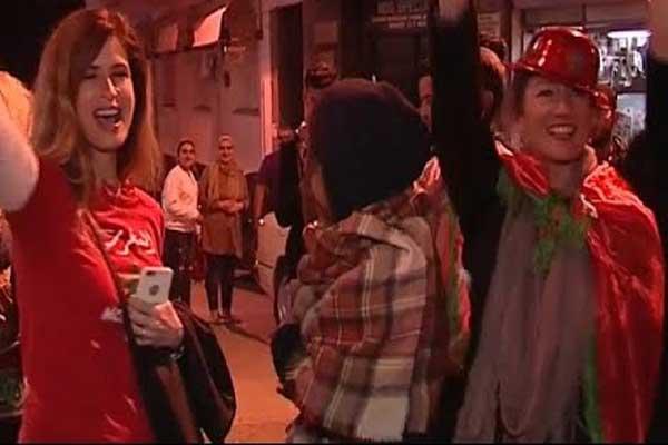 احتفالات كبيرة تعم المغرب بعد التأهل لمونديال روسيا