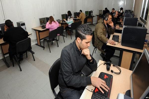 مقهى للانترنت في تونس