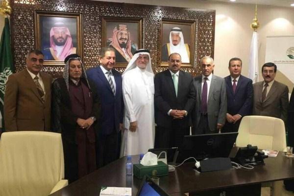 وفد الصداقة العراقية الخليجية خلال زيارته لمركز الملك سلمان للإغاثة والاعمال الانسانية