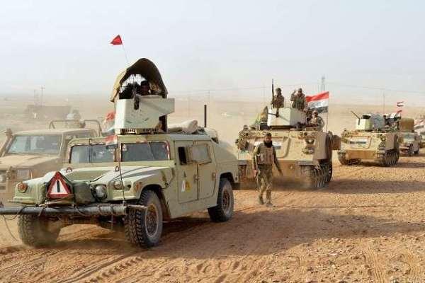 قوات عراقية في صحراء البلاد الغربية