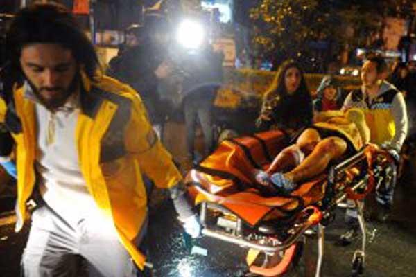 اعتداء اسطنبول ليلة رأس السنة الماضية