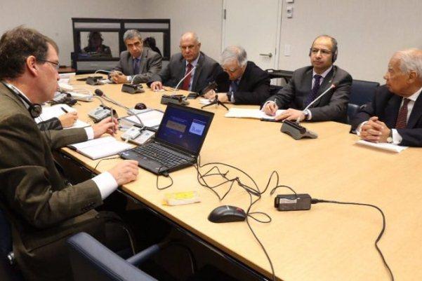 الجبوري مجتمعا في واشنطن مع المدير التنفيذي لصندوق النقد الدولي