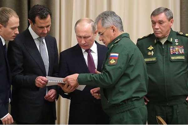 شويغو يقدم قائمة بالجنرالات الروس للأسد (نوفوستي)