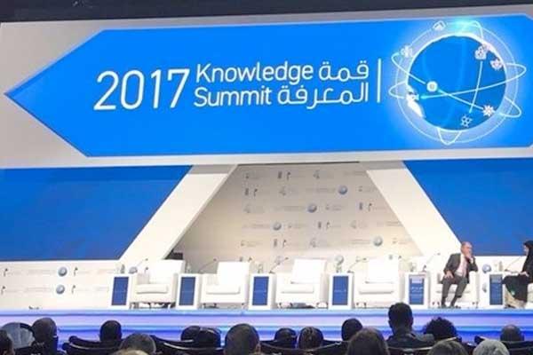 اطلاق مشروع تحدي الأمية في الوطن العربي في قمة المعرفة