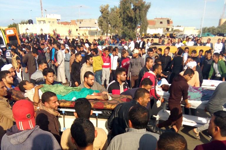 ضحايا الاعتداء الذي استهدف مسجد الروضة في سيناء
