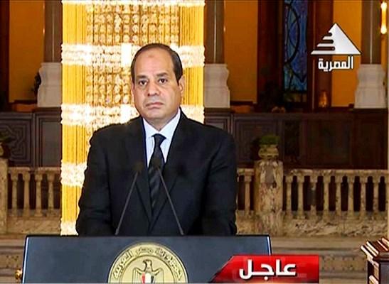 الرئيس المصري في كلمة له تعقيبا على الهجوم