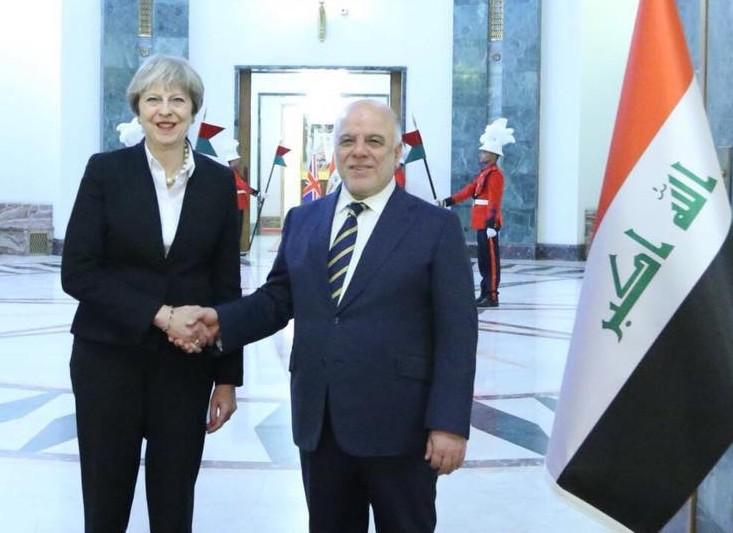 ماي: ندعم العراق أمنيا وعسكريا وسندرب ضباطه بأكاديمياتنا