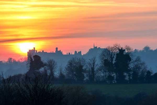 تأسست قلعة أروندل الأصلية في يوم عيد الميلاد في عام 1067