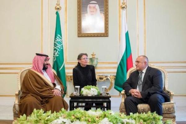رئيس الحكومة البلغارية بويكو بوريسوف يلتقي ولي العهد السعودي الامير محمد بن سلمان في الرياض في التاسع والعشرين من نوفمبر 2017