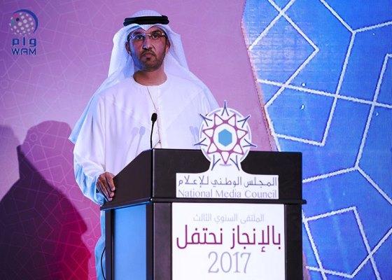 سلطان بن أحمد الجابر وزير دولة رئيس المجلس الوطني للإعلام