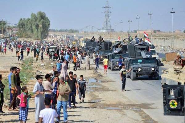 مواطنو كركوك يرحبون بدخول القوات العراقية الى مدينتهم