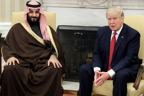 الأمير محمد بن سلمان مع دونالد ترمب