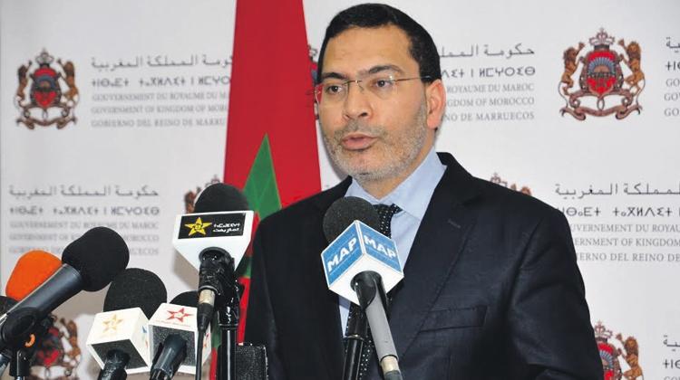 مصطفى الخلفي، الوزير المنتدب لدى رئيس الحكومة المكلف بالعلاقات مع البرلمان والمجتمع المدني، الناطق الرسمي باسم الحكومة المغربية.
