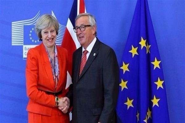 رئيس المفوضية الأوروبية ورئيسة الحكومة البريطانية
