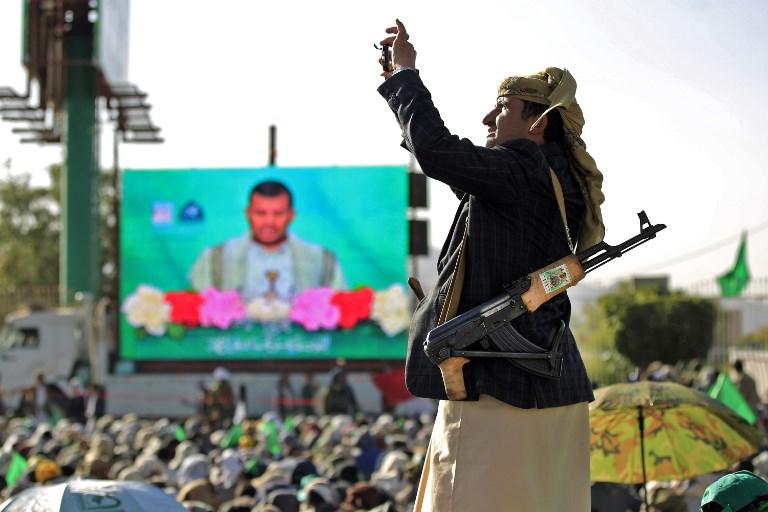جانب من ستعراض للقوة قام به الحوثيون في العاصمة اليمنية