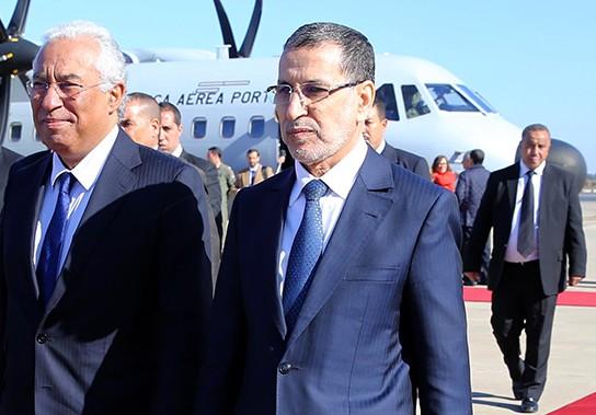 أنطونيو كوستا رئيس الحكومة البرتغالية ونظيره المغربي سعد الدين العثماني
