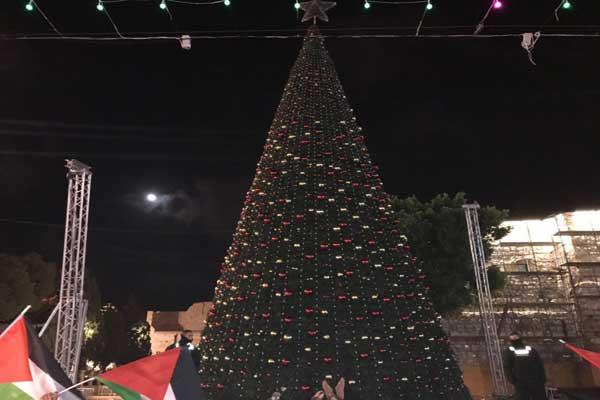 أطفأت بلدية بيت لحم شجرة ميلاد المدينة الر ئيسة استنكارا