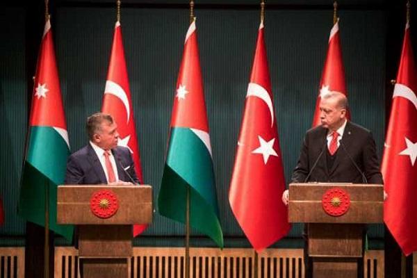 اردوغان وضيفه الأردني خلال المؤتمر الصحفي المشترك