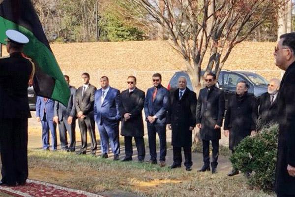 رئيس حكومة الوفاق الوطني في حفل افتتاح السفارة