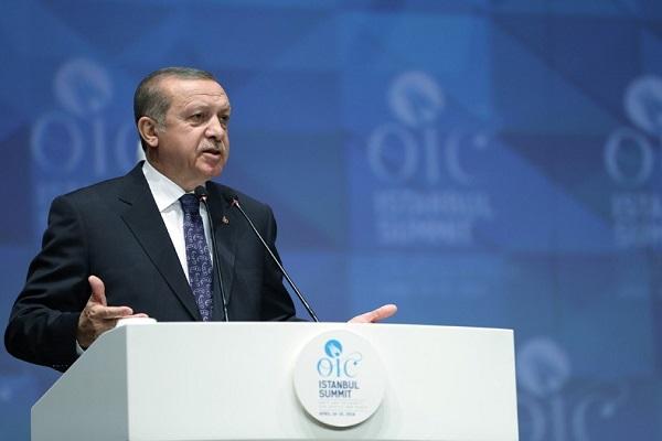 اردوغان يدعو الى الاعتراف بالقدس الشرقية عاصمة لفلسطين