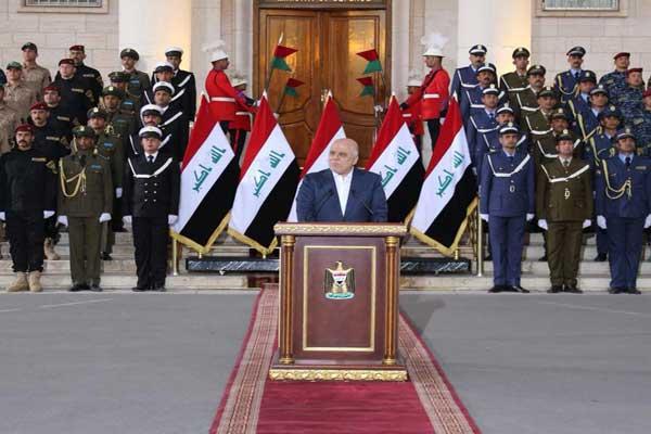 العبادي لدى اعلانه النصر على داعش