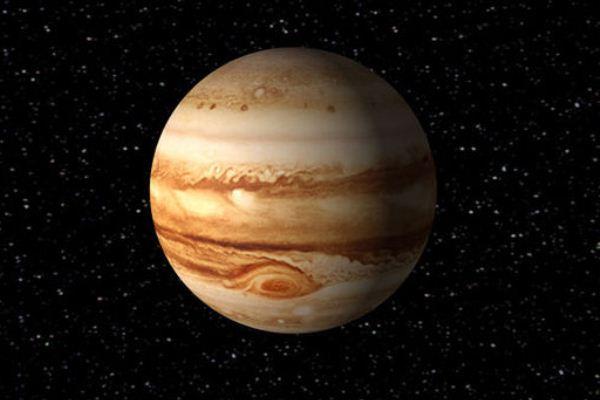 صورة لكوكب المشتري حيث تظهر البقعة الحمراء