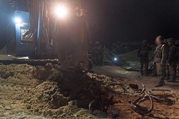 نفق حماس الذي أعلن الجيش الإسرائيلي عن تدميره