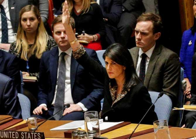 فيتو أميركي يسقط قرار مجلس الأمن بشأن القدس