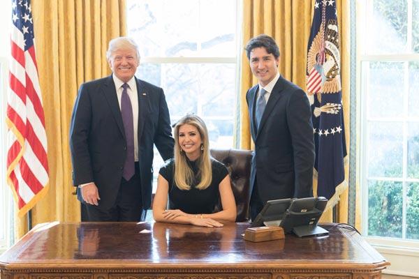 إيفانكا تخضر اجتماعًا في البيت الأبيض مع ترودو