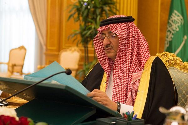 الأمير محمد بن نايف خلال ترؤسه جلسة مجلس الوزراء