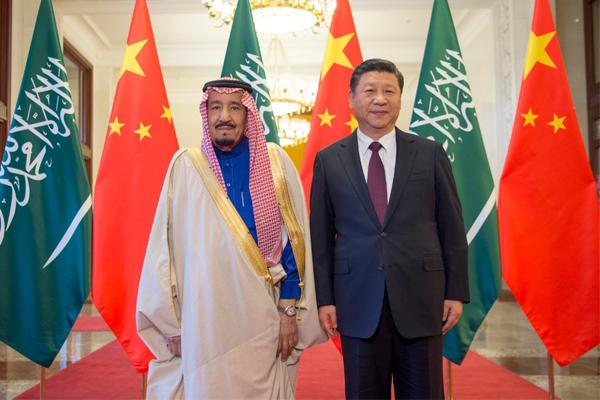 الرئيس الصيني يستقبل العاهل السعودي