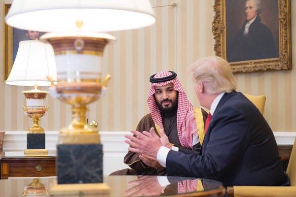 الرئيس ترامب في جلسة ثنائية مع الأمير محمد بن سلمان