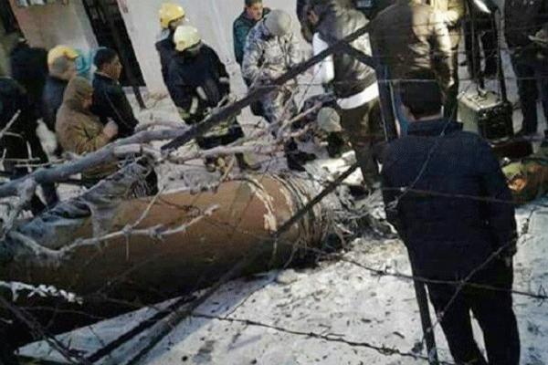 حطام الصاروخ في اربد