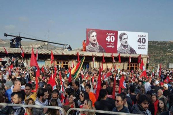 أنصار الحزب التقدمي الاشتراكي يحيون ذكرى اغتيال المعلم كمال جنبلاط