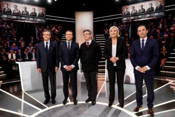 المرشحون الخمسة للانتخابات الفرنسية خلال المناظرة