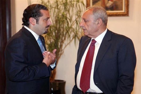 رئيس مجلس النواب نبيه بري مع رئيس الحكومة سعد الحريري