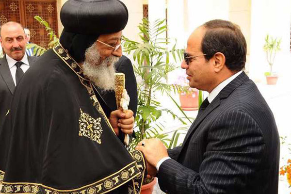 البابا تواضروس استقبل الرئيس السيسي في الكاتدرائية