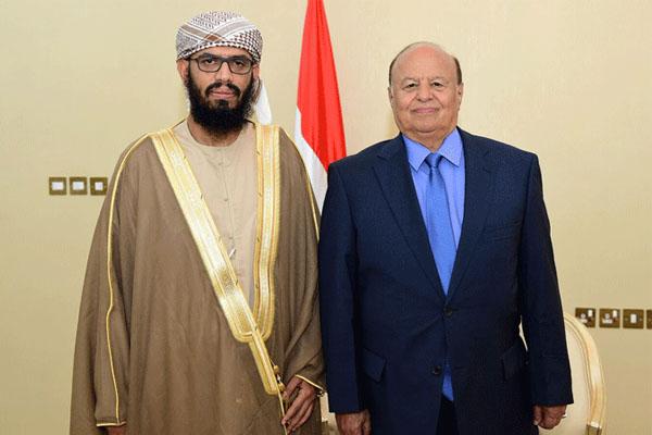 الرئيس اليمني والوزير ابن بريك