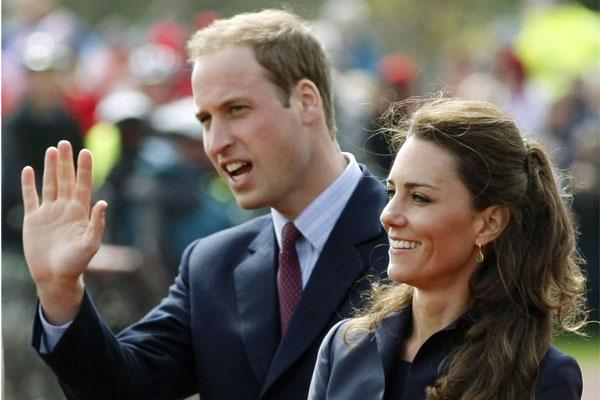 الأمير وليام وزوجته كيت