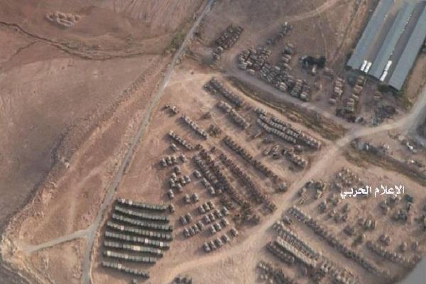 صورة وزعها الاعلام الحربي السوري عن تحركات على الحدود
