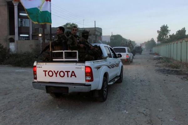 الامن الكردي يطوف شوارع كركوك