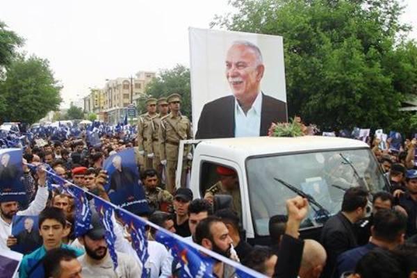 جانب من جنازة نوشيروان مصطفى