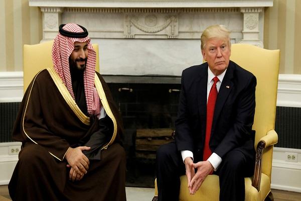 جانب من اللقاء بين دونالد ترمب ومحمد بن سلمان في البيت الأبيض