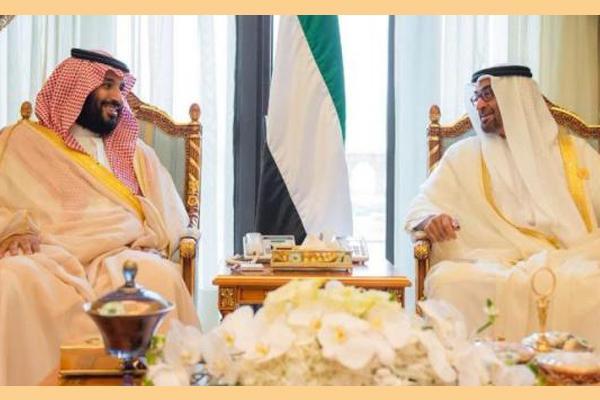 الأمير محمد بن سلمان والشيخ محمد بن زايد خلال اللقاء