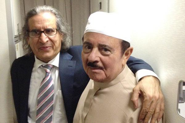 عثمان العمير مع عدنان خاشقجي