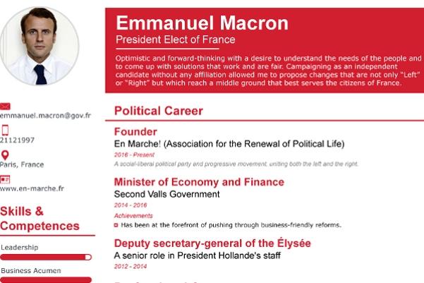 سيرة الرئيس الفرنسي الذاتية