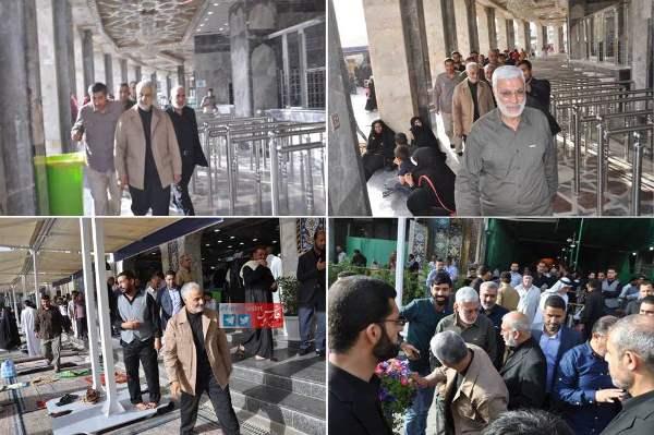 قاسم سليماني يتجول في مدينة كربلاء العراقية