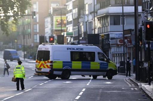 الشرطة في موقع حادث الدهس