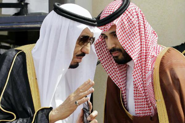 الملك سلمان وولي عهده محمد بن سلمان