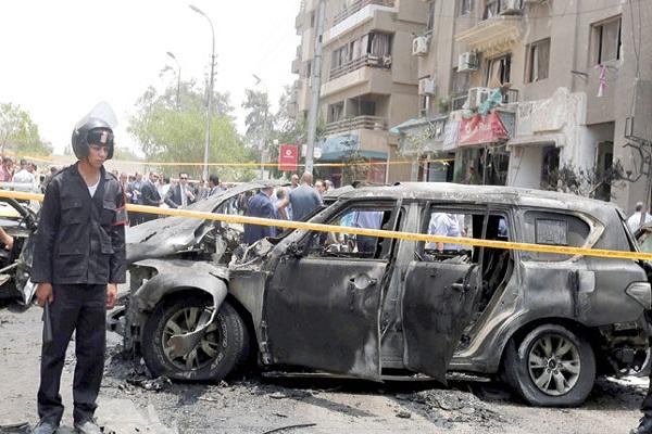 سيارة النائب العام بعد اغتياله